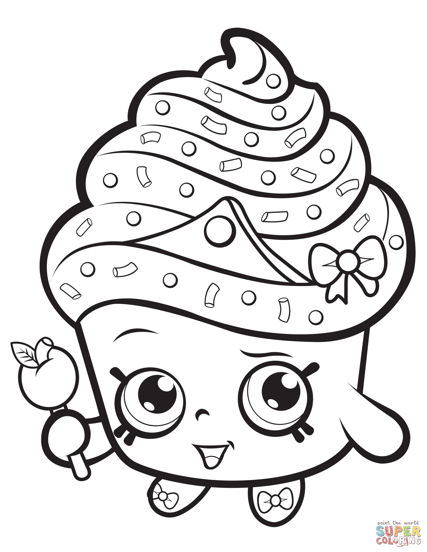 Coloring Pages For Girls Shopkins Apple  Coloring Pages For Girls Shopkins Apple Download 4