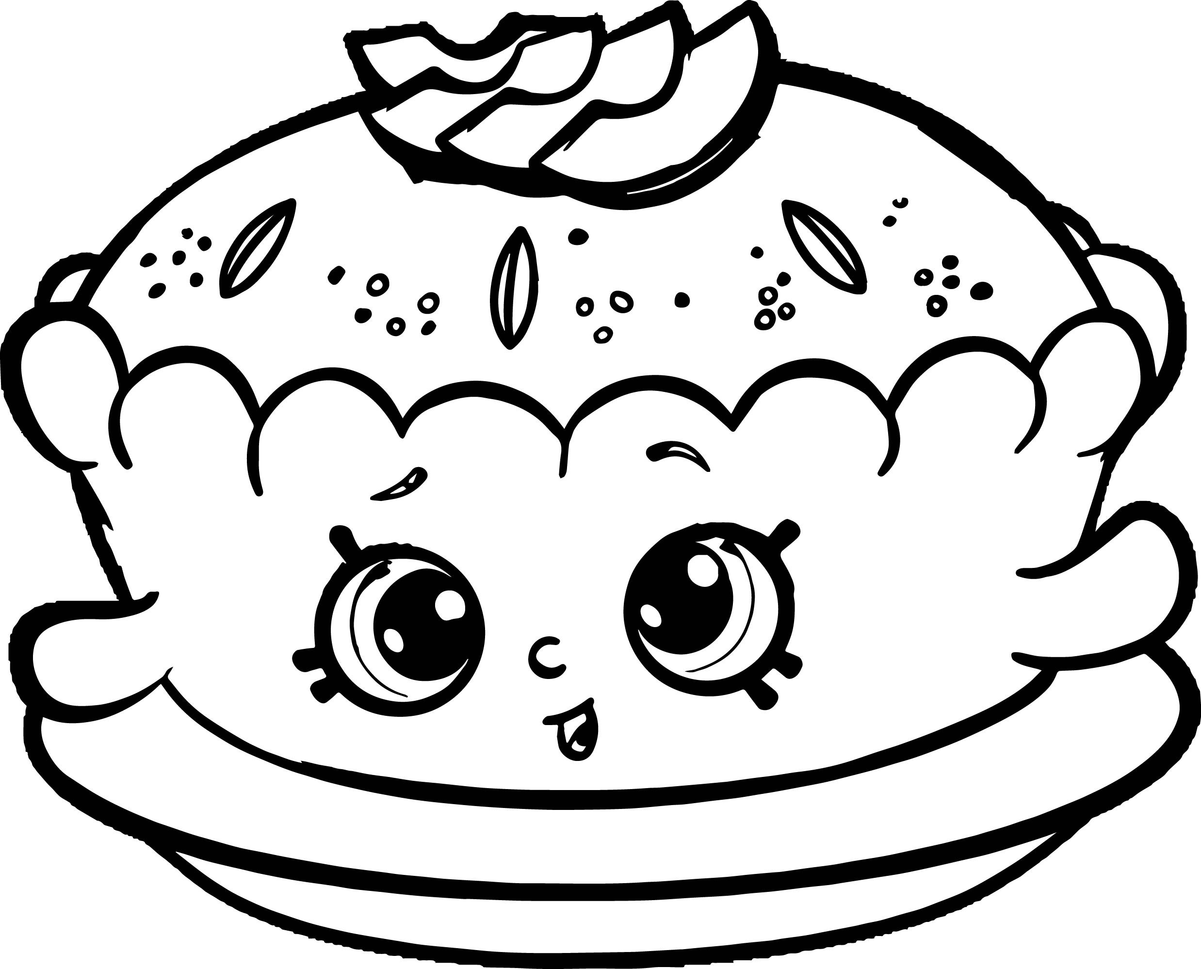 Coloring Pages For Girls Shopkins Apple  Apple Pie Alice Coloring Page