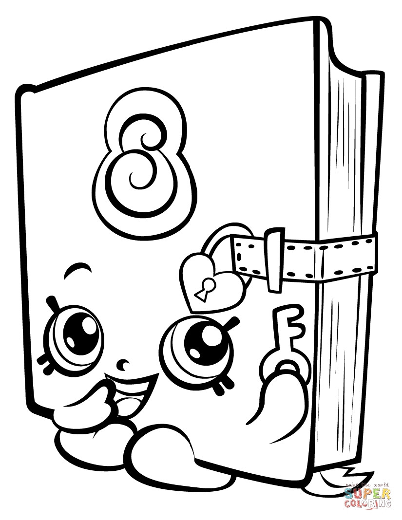 Coloring Pages For Girls Shopkins Apple  Coloring Pages For Girls Shopkins Season 3 Download 8