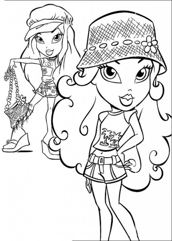 Coloring Pages For Girls That You Can Print  Free Printable Bratz Coloring Pages For Kids