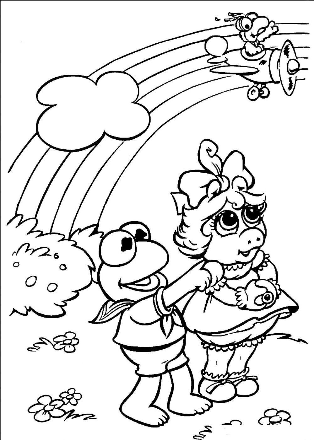Coloring Pages For Kides  Free Printable Rainbow Coloring Pages For Kids