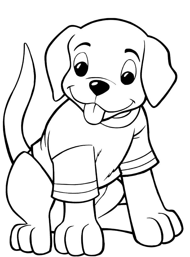 Coloring Pages For Kides  Puppy Coloring Pages Best Coloring Pages For Kids