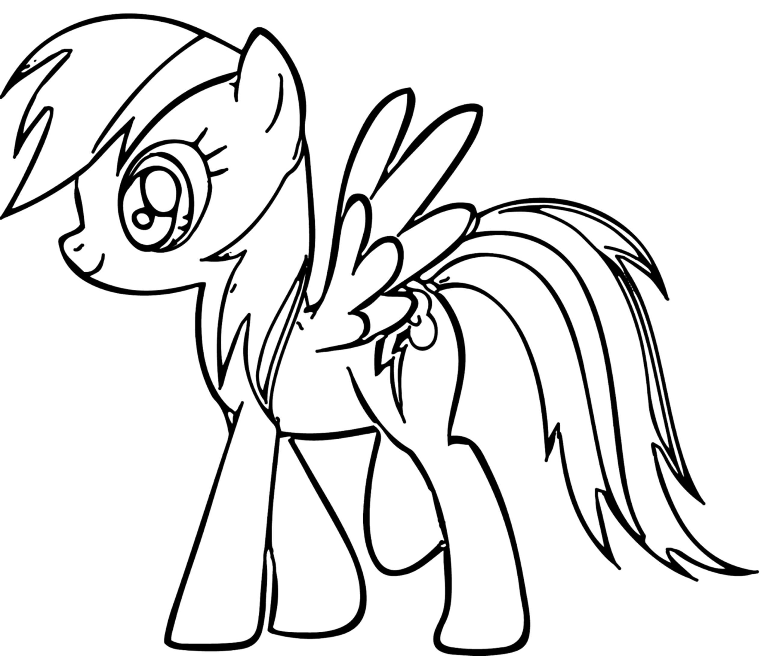 Coloring Pages For Kides  Rainbow Dash Coloring Pages Best Coloring Pages For Kids