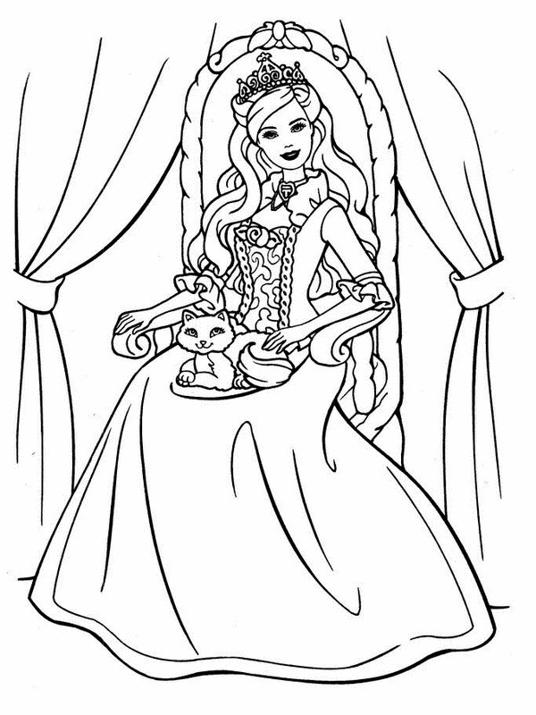 Coloring Pages For Kids Barbie  Free Printable Barbie Coloring Pages For Kids