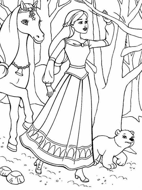Coloring Pages For Kids Barbie  Kids Page Barbie Coloring Pages for Childrens
