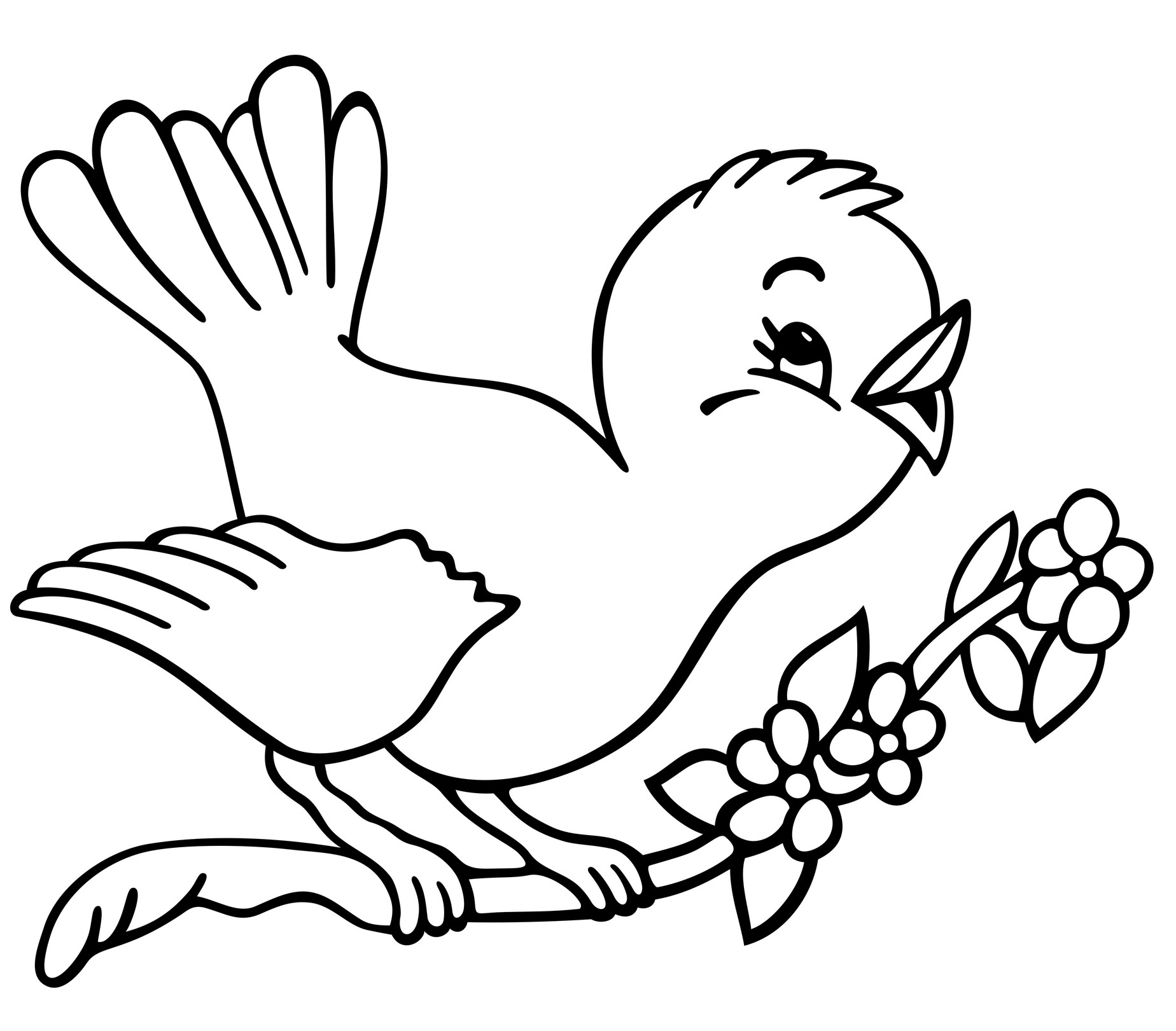 Coloring Pages For Kids Birds  Reduced Printable Birds To Color C