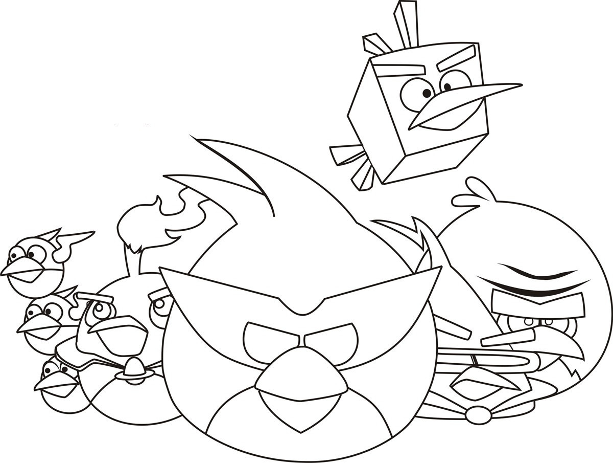 Coloring Pages For Kids Birds  Free Printable Angry Bird Coloring Pages For Kids