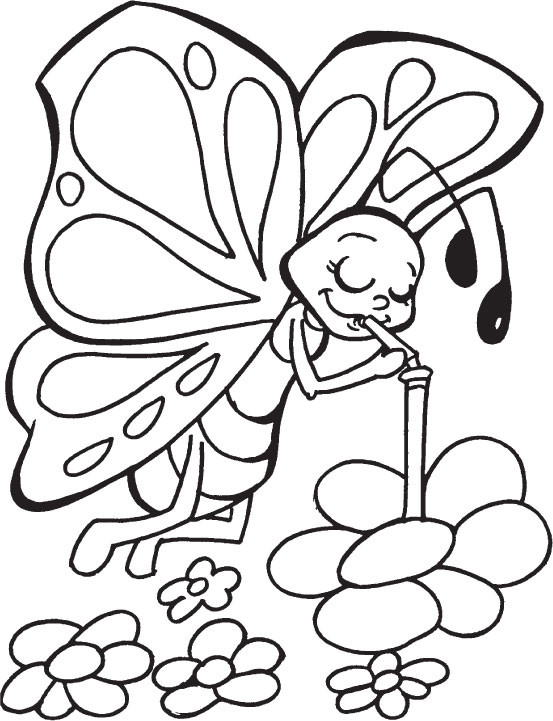 Coloring Pages For Kids Butterflies  Children Butterfly Coloring Pages The Art Jinni