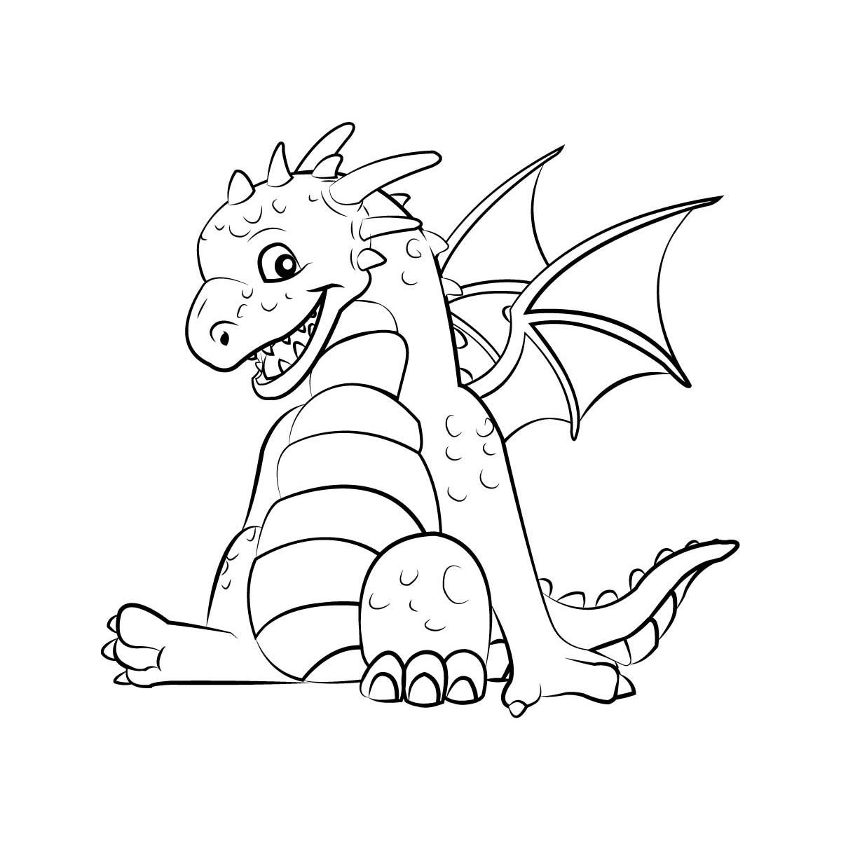 Coloring Pages For Kids Dragons  Dragon Coloring Pages