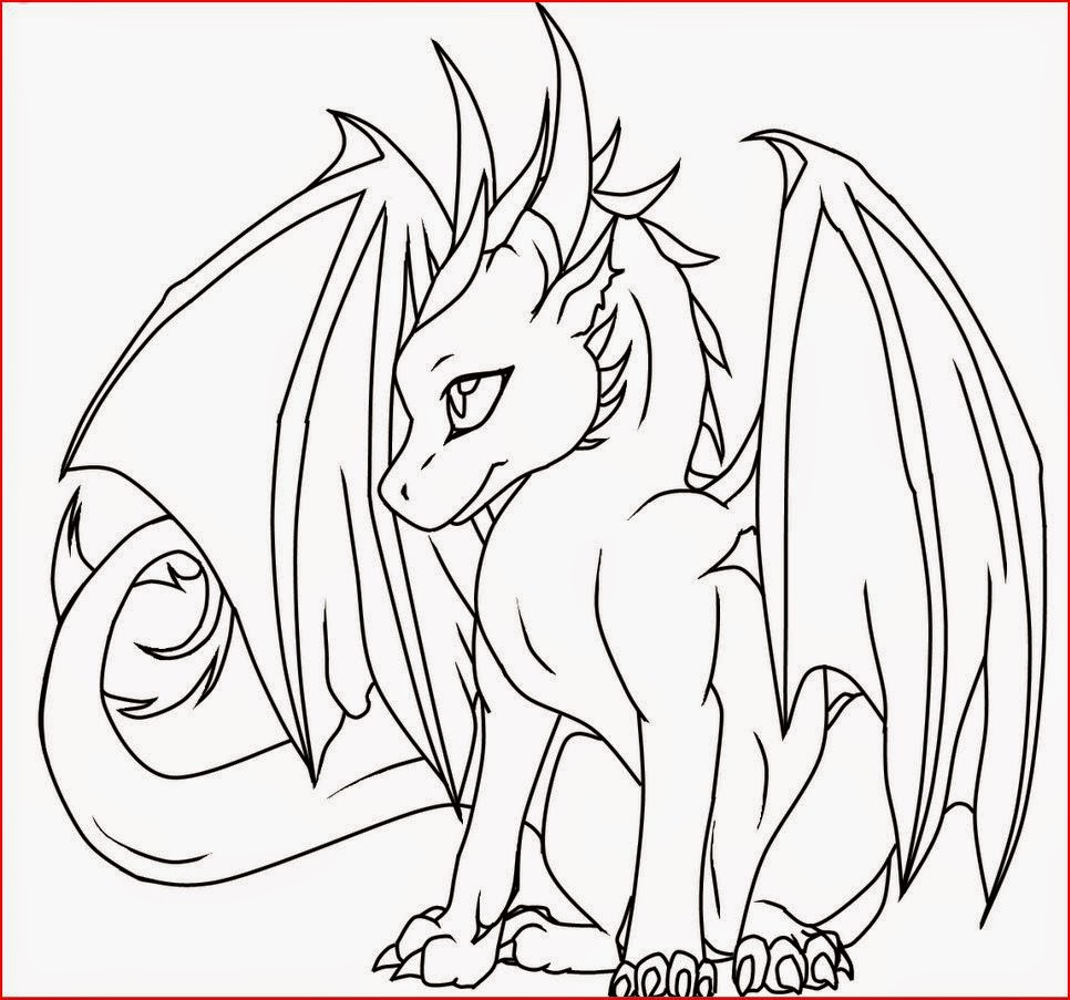 Coloring Pages For Kids Dragons  Coloring Pages Female Dragon Coloring Pages Free and