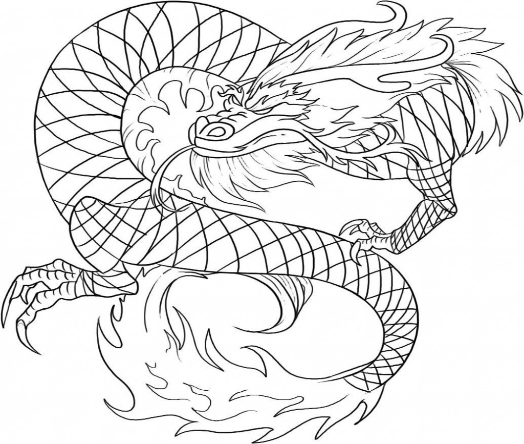 Coloring Pages For Kids Dragons  Free Printable Chinese Dragon Coloring Pages For Kids