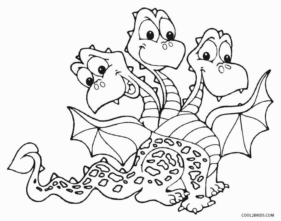 Coloring Pages For Kids Dragons  Printable Dragon Coloring Pages For Kids