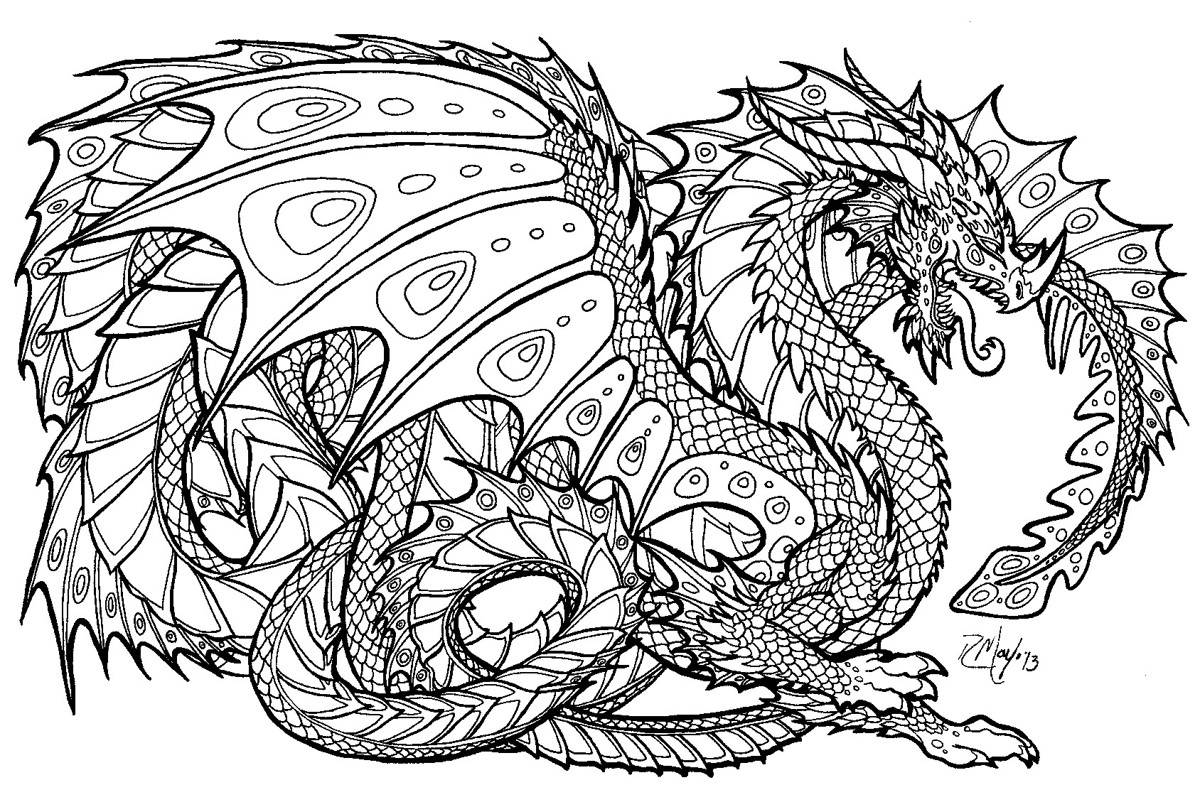 Coloring Pages For Kids Dragons  Free Dragon Coloring Pages For Kids Image 34 Gianfreda
