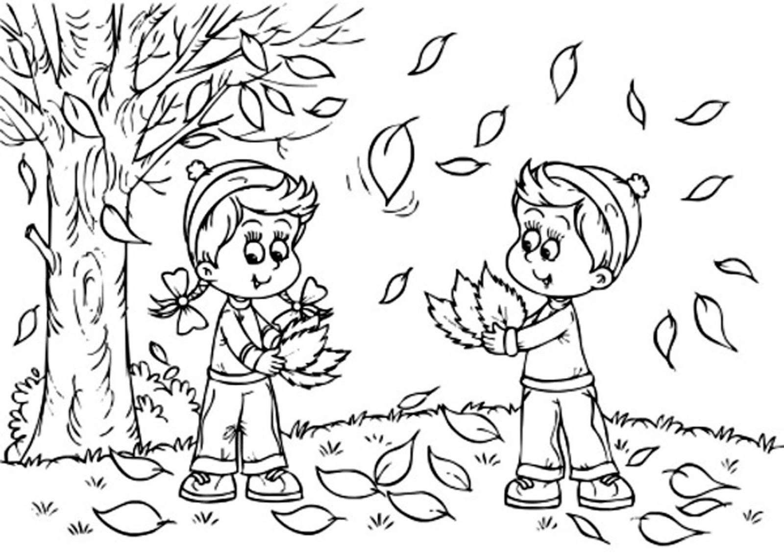 Coloring Pages For Kids Fall  Fall Leaves Coloring Pages 2016