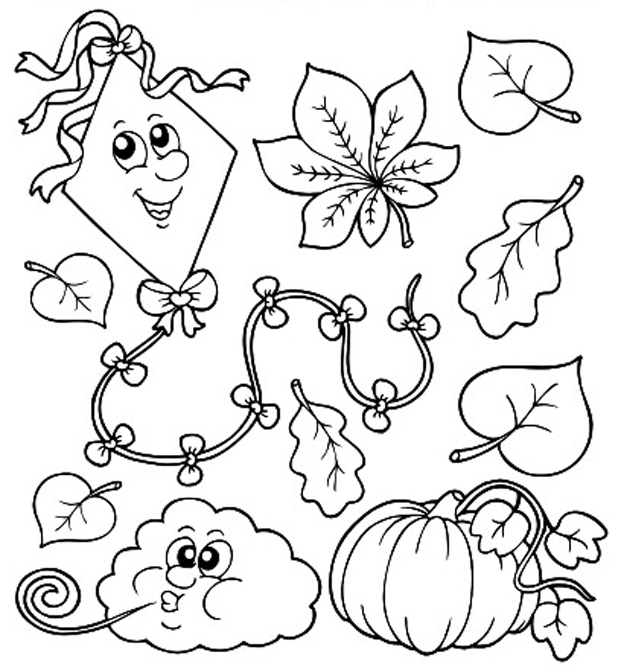 Coloring Pages For Kids Fall  Autumn Coloring Pages For Kids