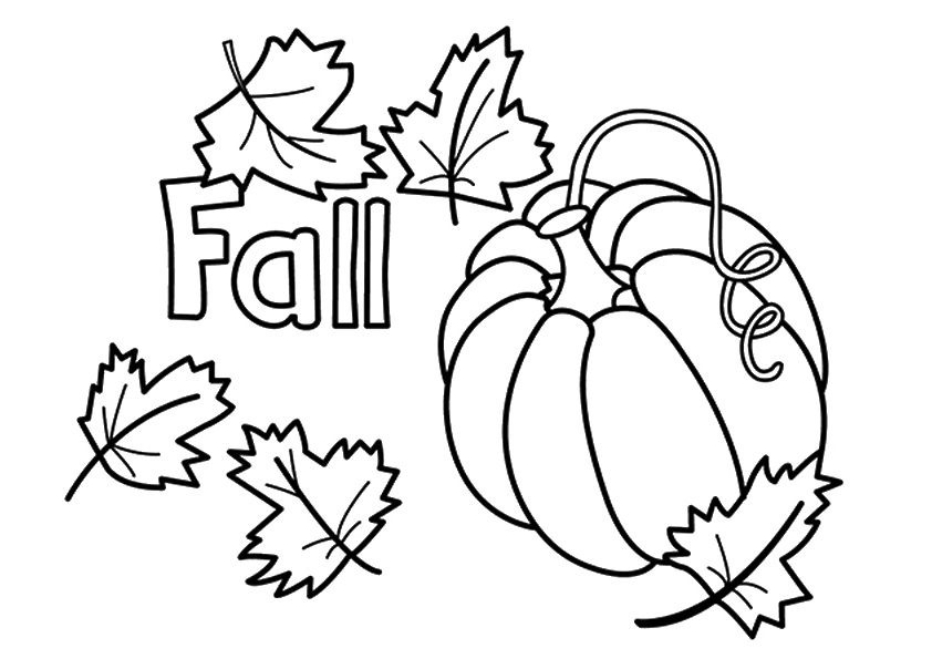 Coloring Pages For Kids Fall  Free Printable Fall Coloring Pages for Kids Best