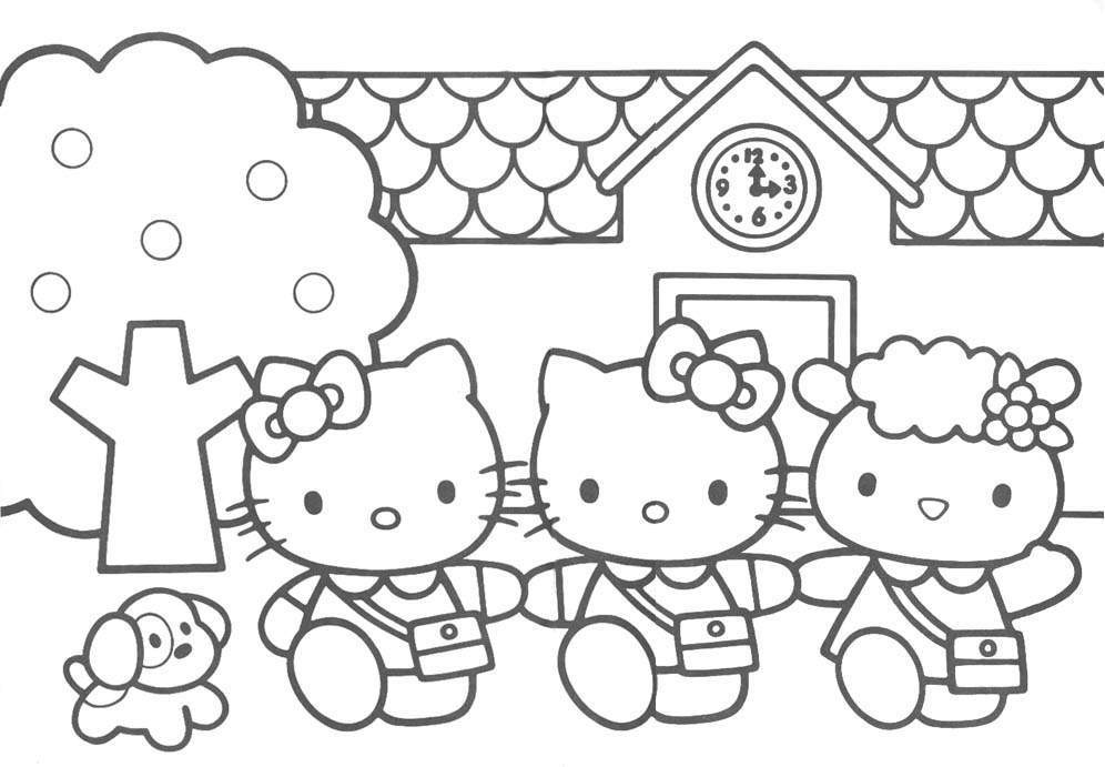 Coloring Pages For Kids Hello Kitty  Free Printable Hello Kitty Coloring Pages For Kids