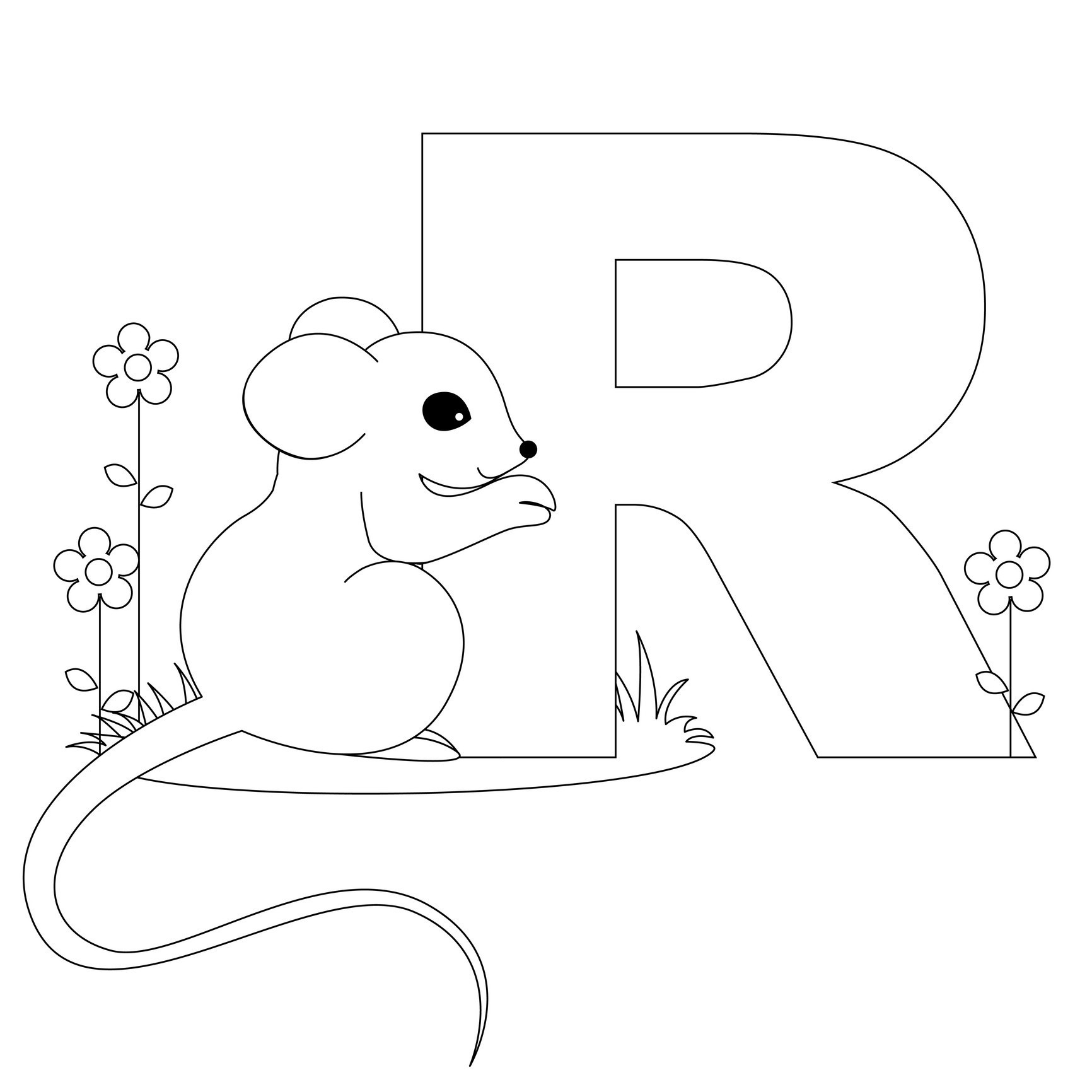 Coloring Pages For Kids Letters  Free Printable Alphabet Coloring Pages for Kids Best