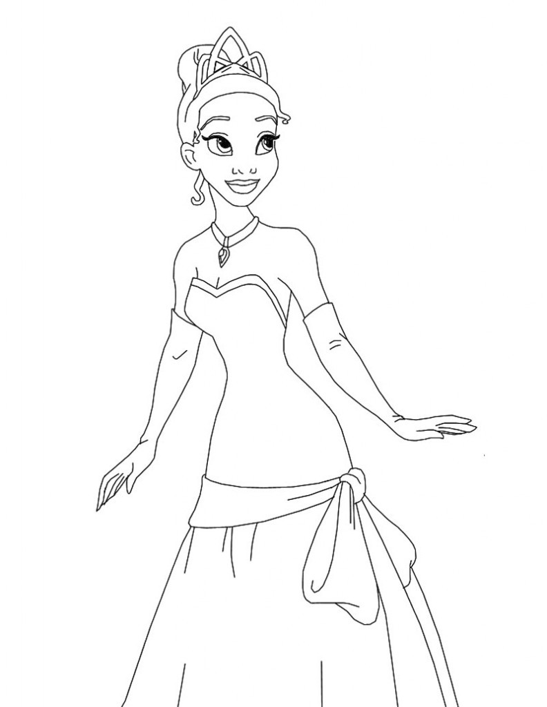 Coloring Pages For Kids Princesses  Free Printable Disney Princess Coloring Pages For Kids