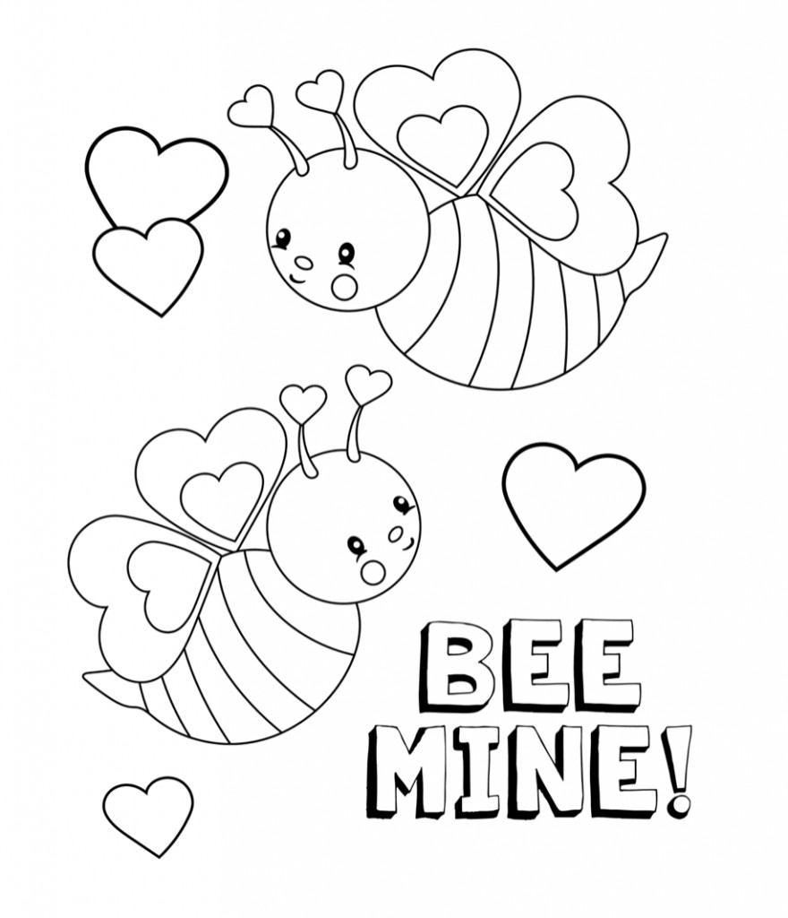 Coloring Pages For Kids Valentine  Valentines Coloring Pages Happiness is Homemade