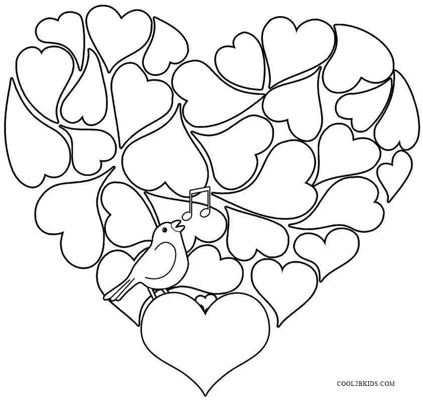 Coloring Pages For Kids Valentine  Printable Valentine Coloring Pages For Kids
