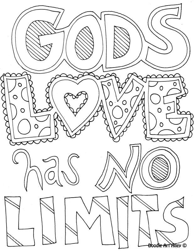 Coloring Pages For Teens Grace  Coloring Page God s love has no limits