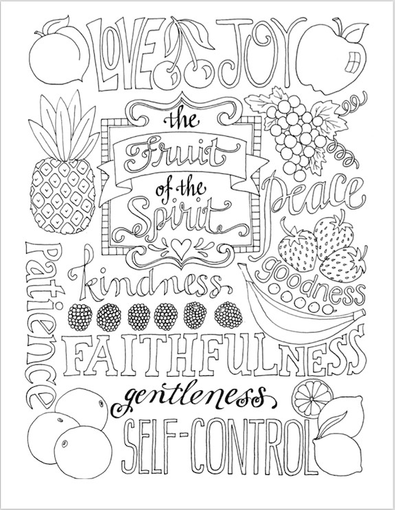 Coloring Pages For Teens Grace  Fruit of the Spirit Coloring Page Flanders Family Homelife