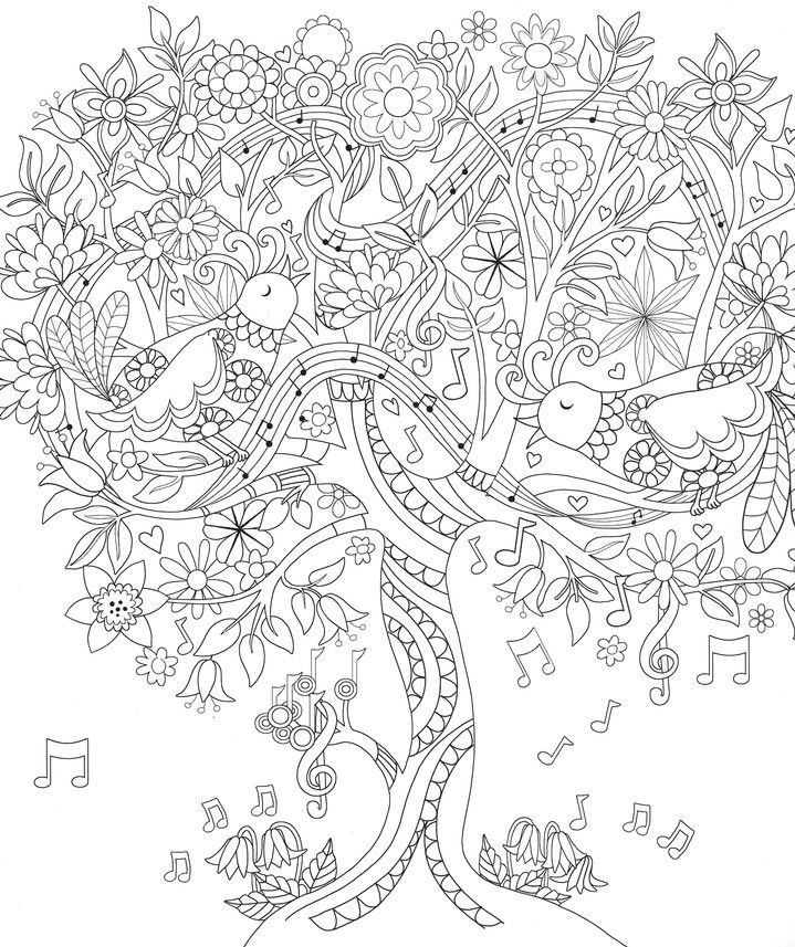 Coloring Pages For Teens Grace  17 Best images about ♣Adult Colouring Trees Leaves