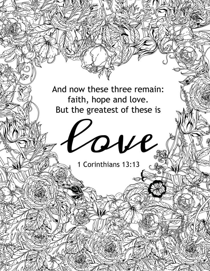 Coloring Pages For Teens Grace  Best Love Quotes The greatest of these is love coloring