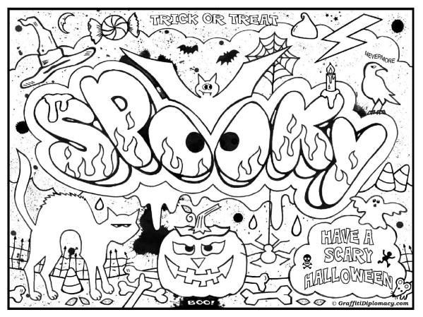 Best ideas about Coloring Pages For Teens Happy . Save or Pin Pics For Graffiti Words Coloring Pages For Teenagers Now.
