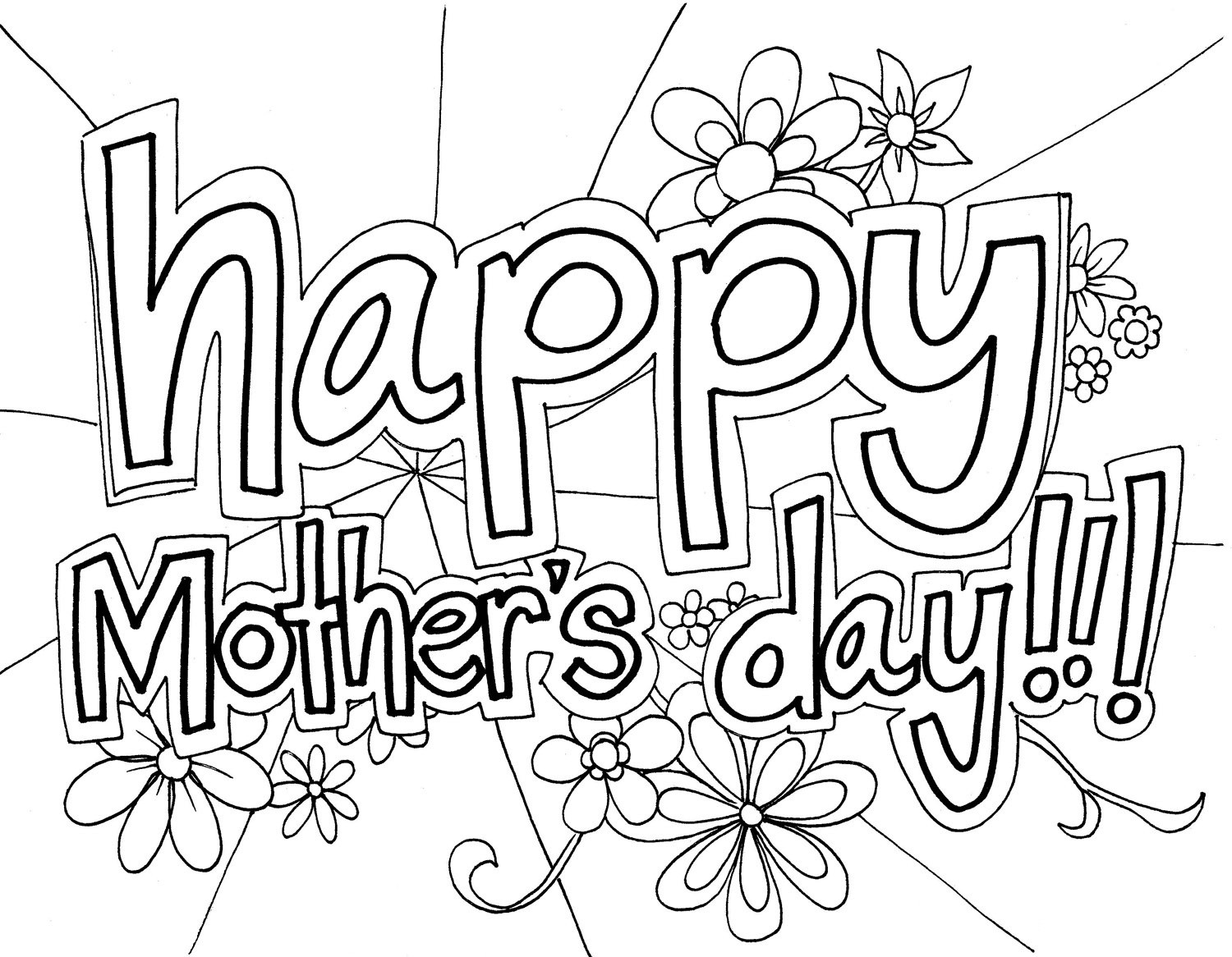 Best ideas about Coloring Pages For Teens Happy . Save or Pin Free Printable Mothers Day Coloring Pages For Kids Now.
