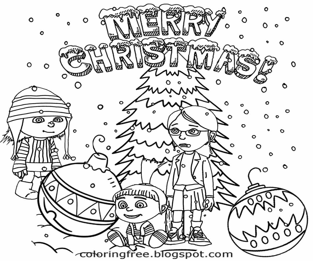 Best ideas about Coloring Pages For Teens Happy . Save or Pin Minions Christmas Coloring Pages Free Now.