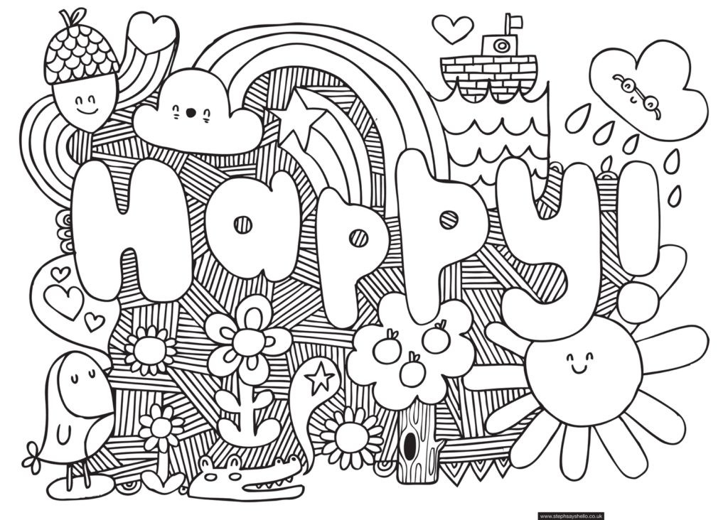 Best ideas about Coloring Pages For Teens Happy . Save or Pin Coloring Pages Cool Coloring Pages For Older Kids Now.