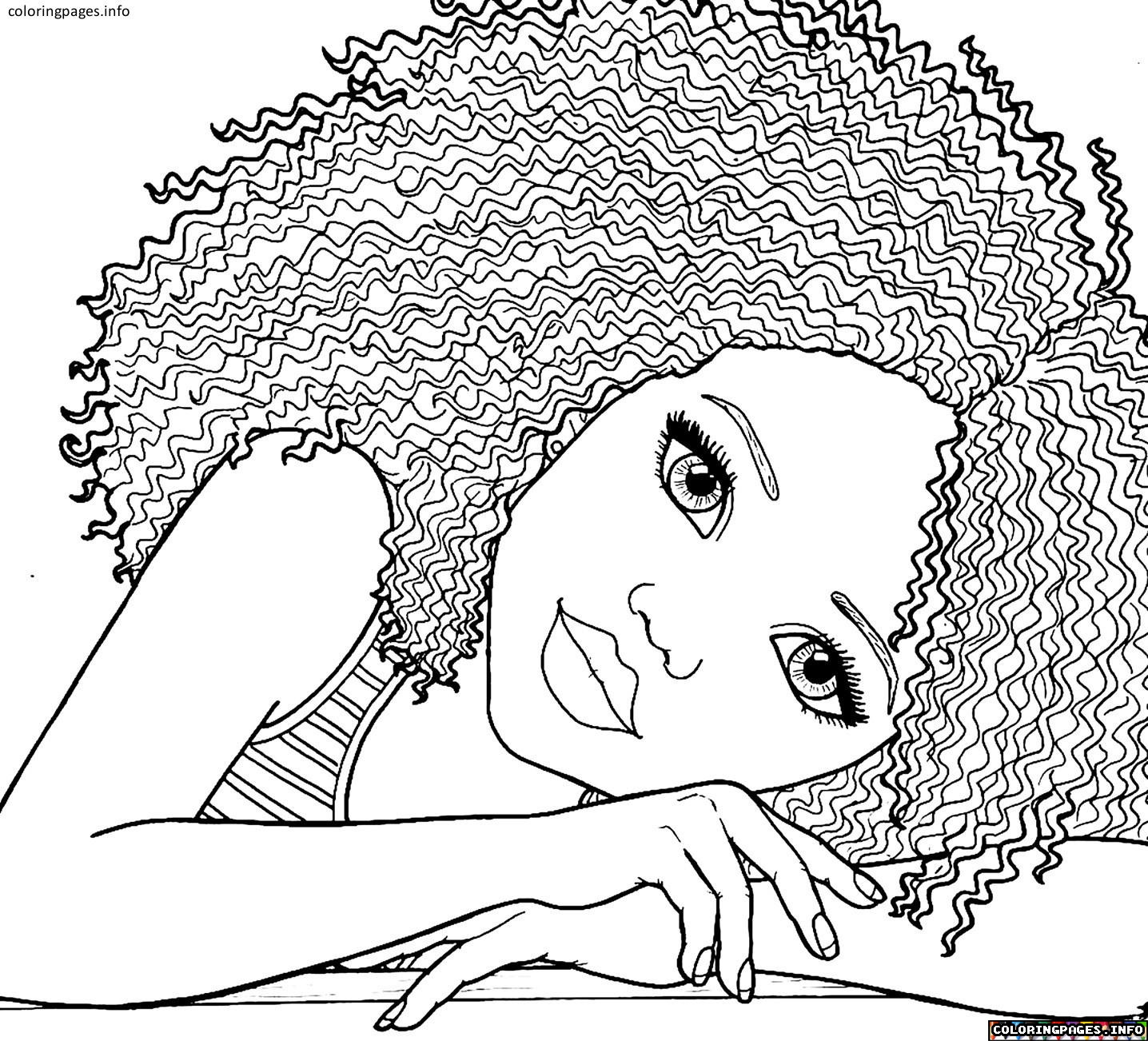 Coloring Pages For Women  African American Woman Coloring Pages – Color Bros