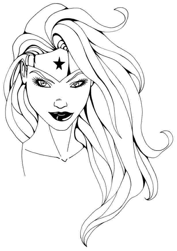 Coloring Pages For Women  Wonder Woman Coloring Pages Free Coloring Home