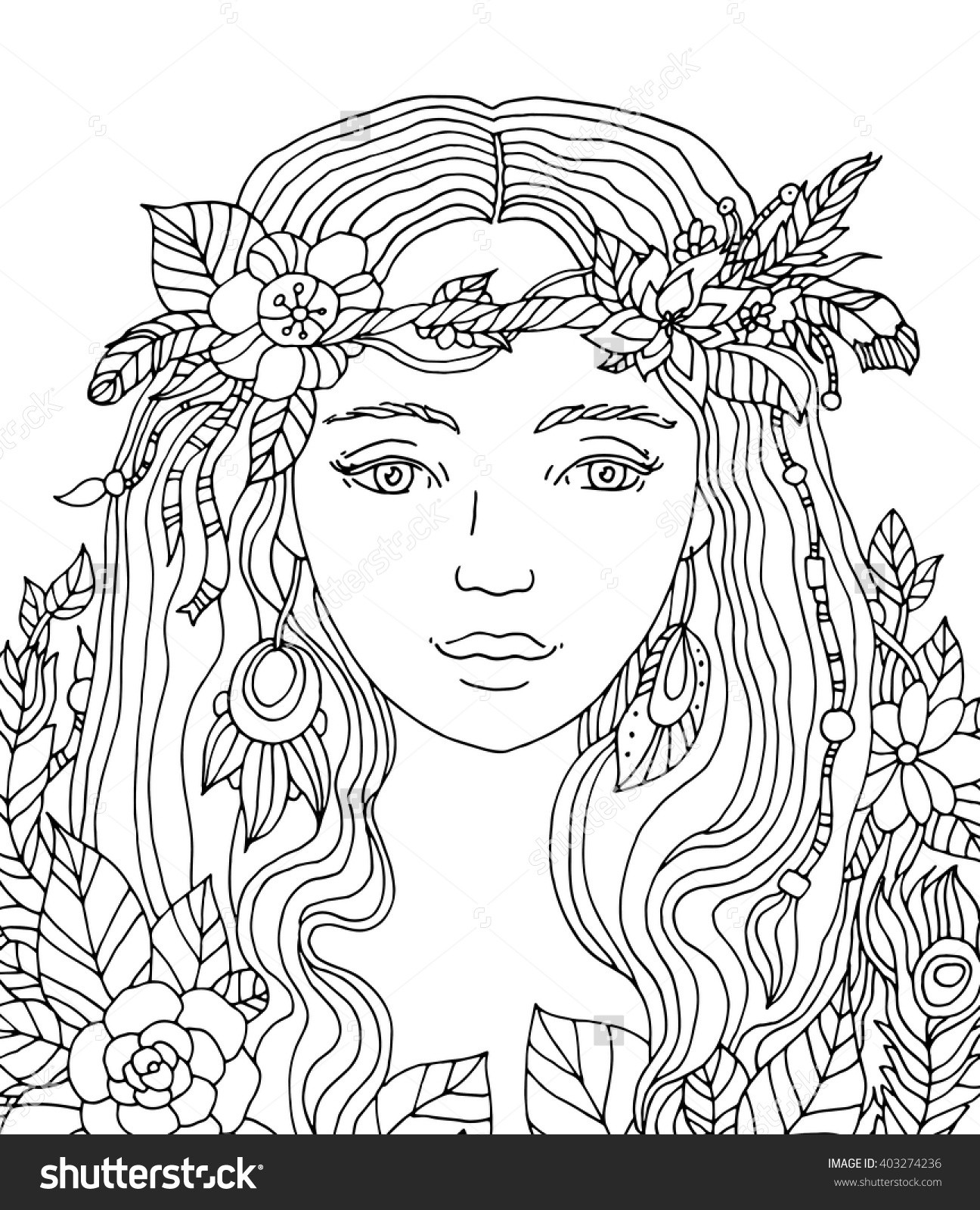 Coloring Pages For Women  Pretty Coloring Pages For Girls – Color Bros