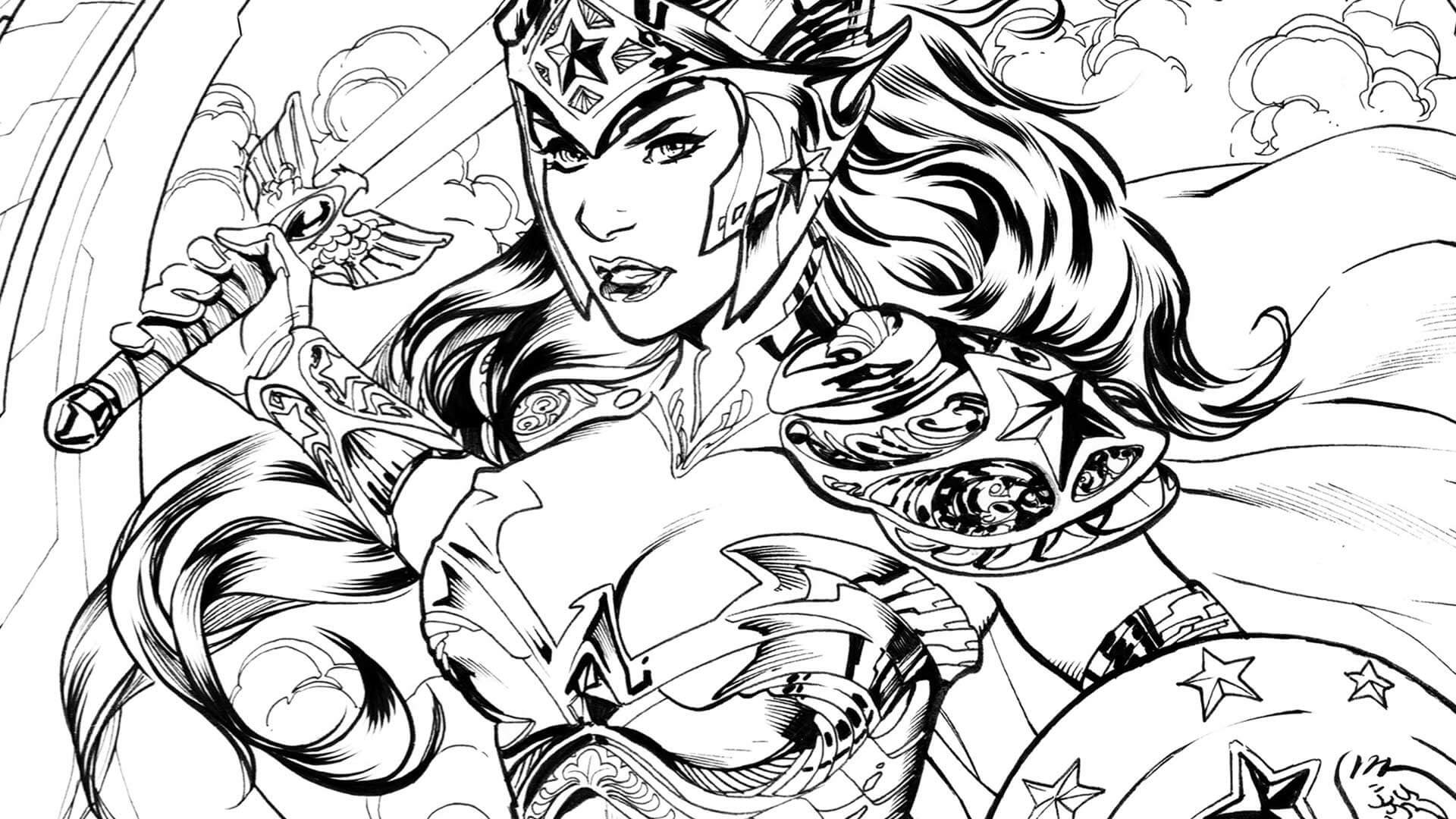 Coloring Pages For Women  Free Wonder Woman Coloring Pages
