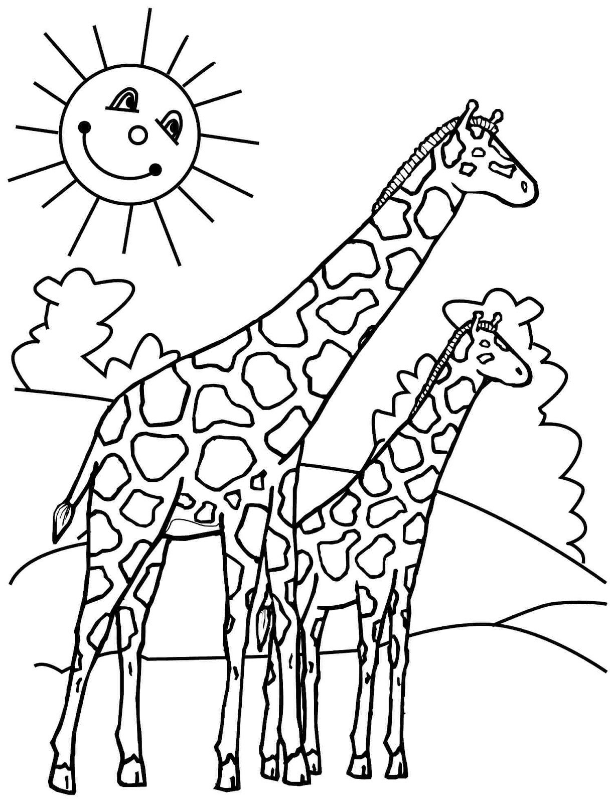 Coloring Pages Giraffe  Top 11 Free Printable Giraffe Coloring Pages For Kids