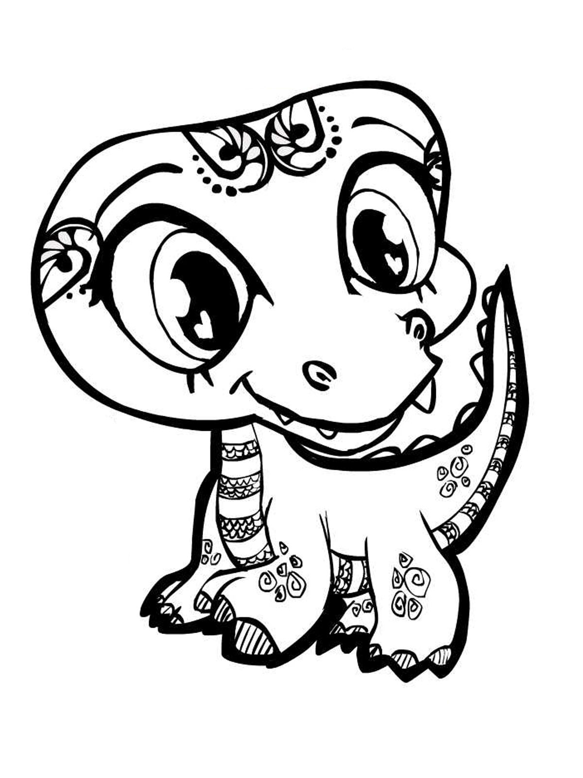 Coloring Pages Of Cute Animals  Cute Animal Coloring Pages Printables Cute Animal Coloring