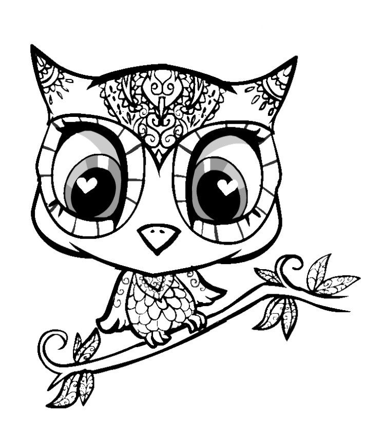 Coloring Pages Of Cute Animals  Cute Baby Animal Coloring Pages Printable Coloring Pages