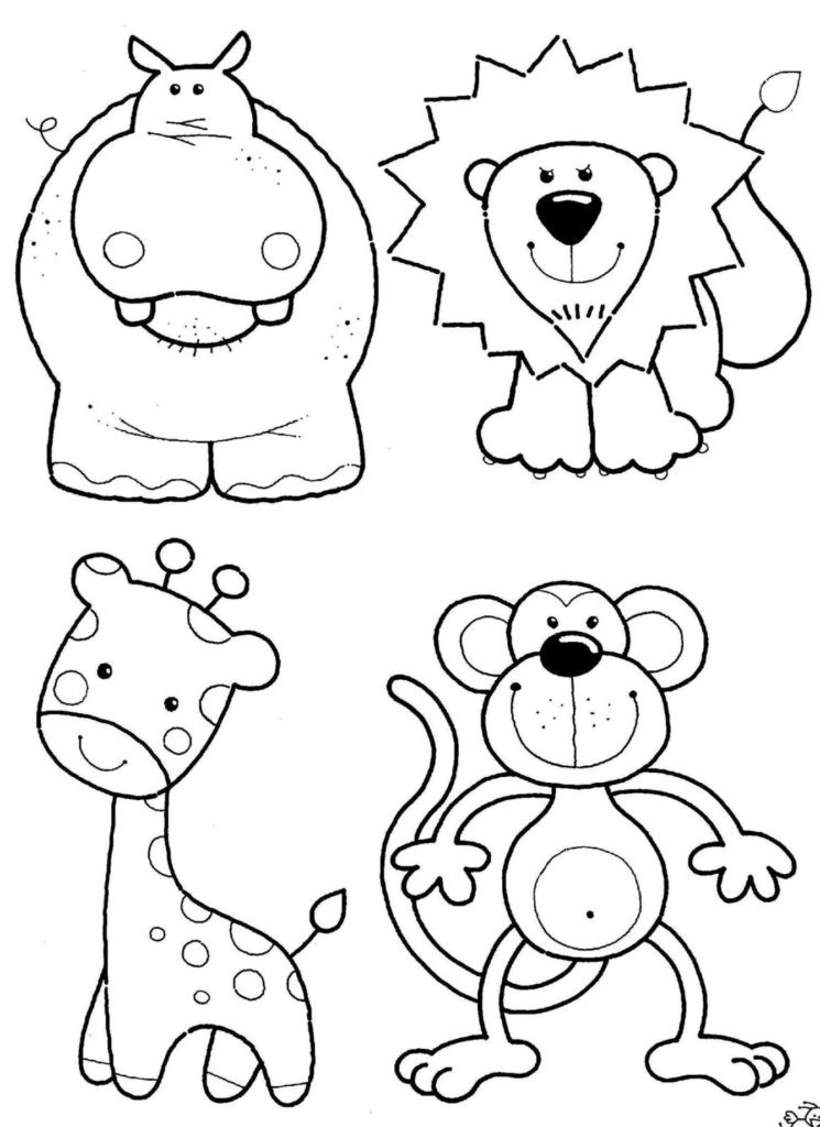 Coloring Pages Of Cute Animals  Coloring Pages Cute Jungle Animal Coloring Pages Download