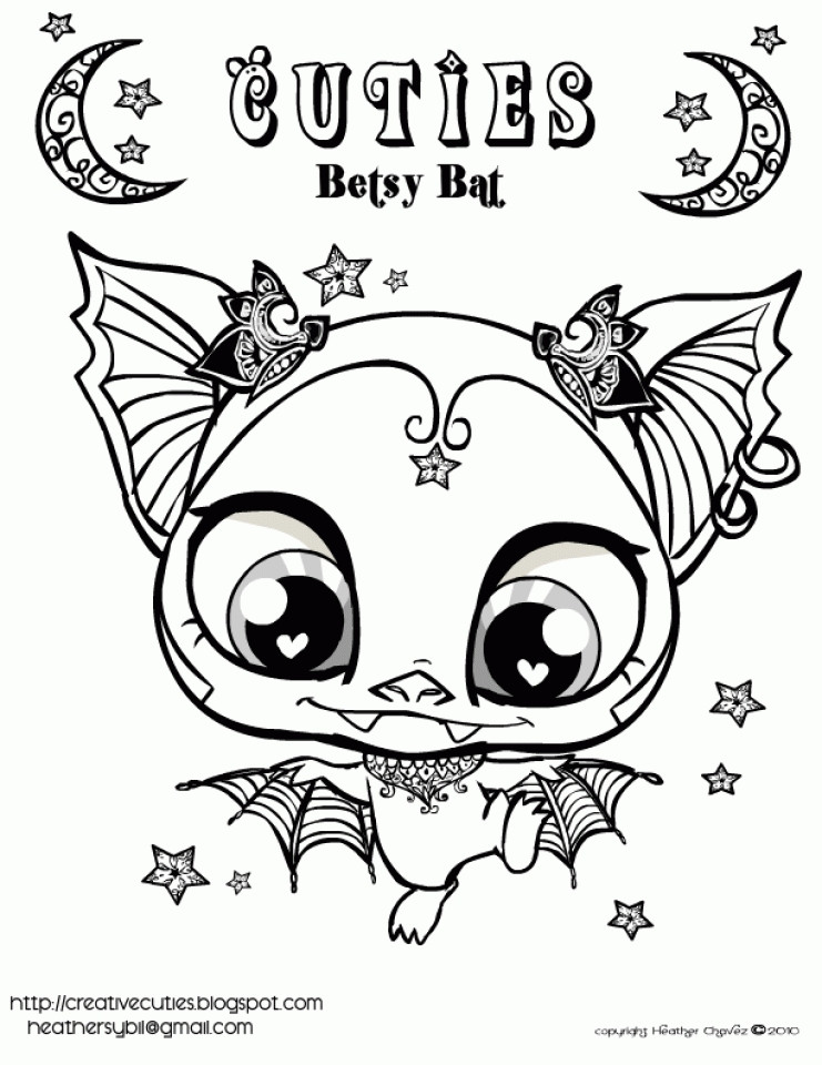 Coloring Pages Of Cute Animals  Get This Cute Coloring Pages of Littlest Pet Shop