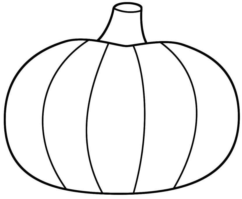 Coloring Pages Of Pumpkins  Pumpkin Outline Printable Clipartion