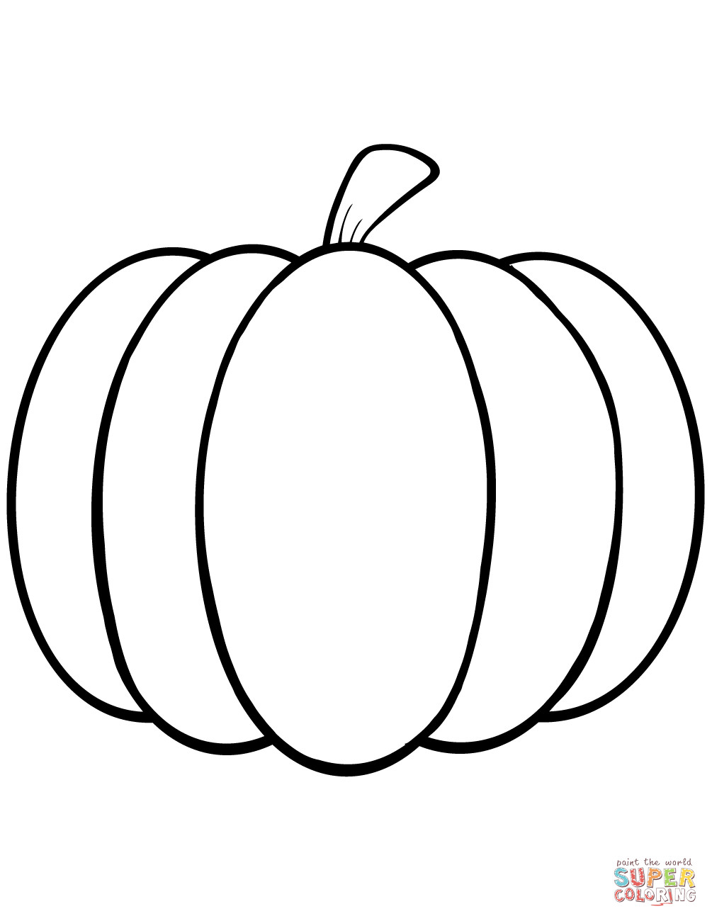 Coloring Pages Of Pumpkins  Simple Pumpkin coloring page