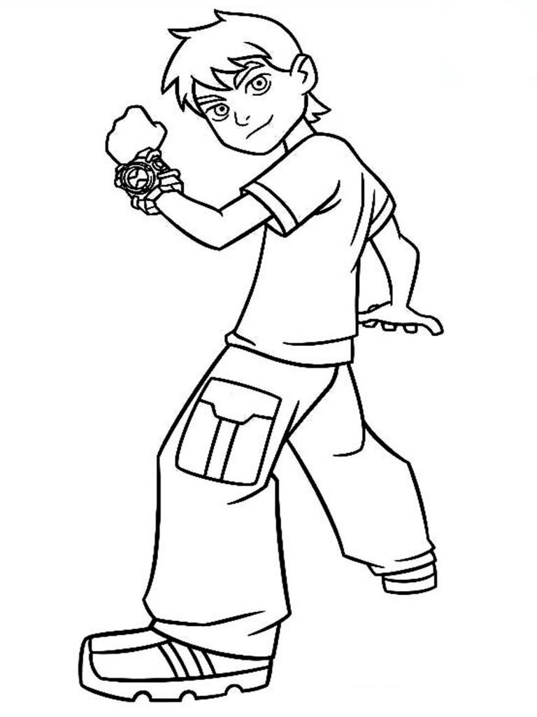 Coloring Pages To Color Online For Free  Free Printable Ben 10 Coloring Pages For Kids