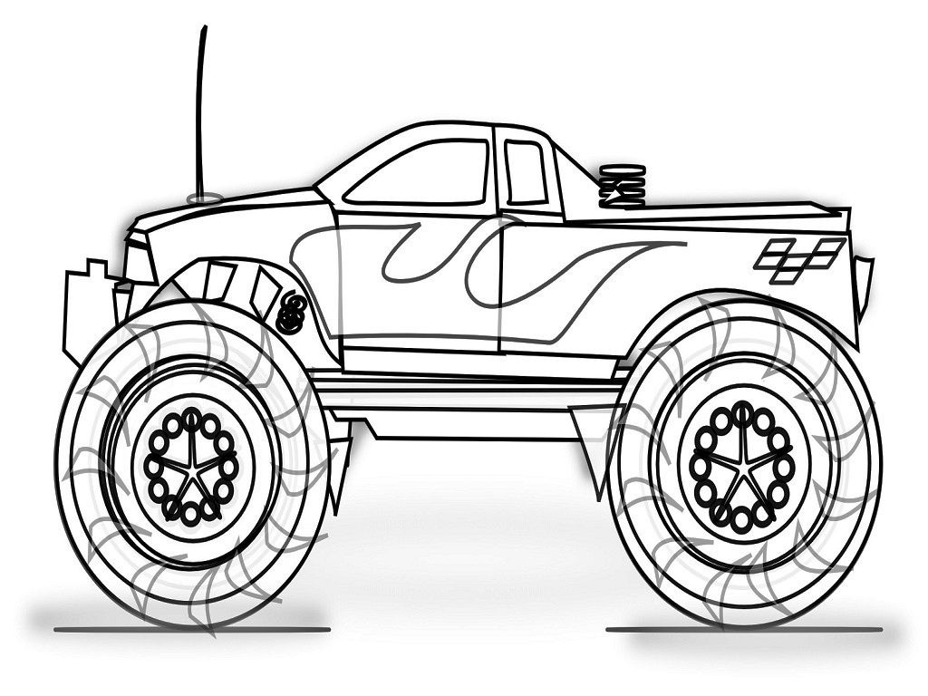 Coloring Sheets For Boys Monster Truck  Monster Jam Coloring Pages To Print Page Image Clipart