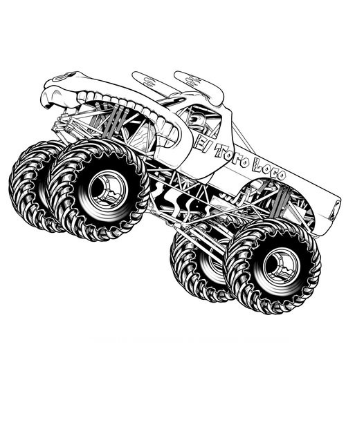 Coloring Sheets For Boys Monster Truck  Monster Truck Coloring Pages For Boys