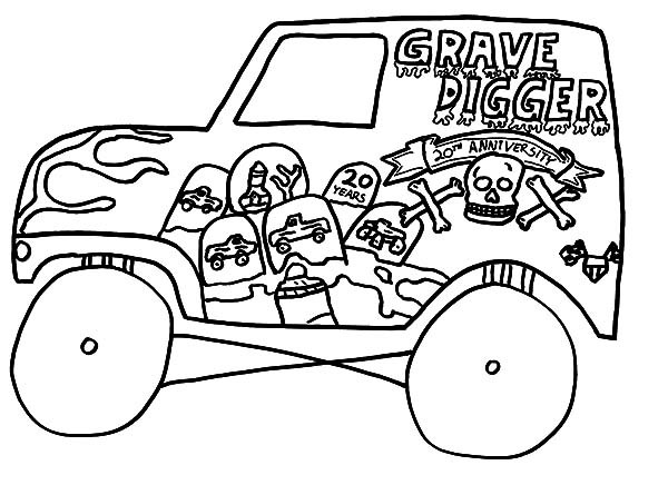 Coloring Sheets For Boys Monster Truck  Monster Trucks Coloring Pages For Boys – Color Bros