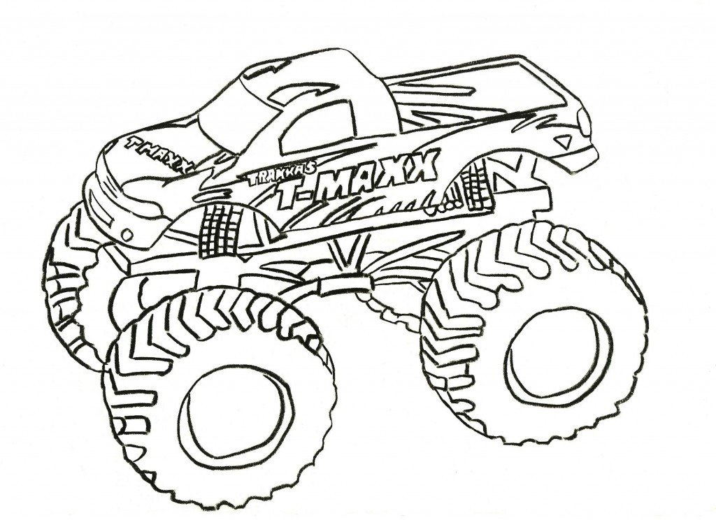 Coloring Sheets For Boys Monster Truck  Free Printable Monster Truck Coloring Pages For Kids