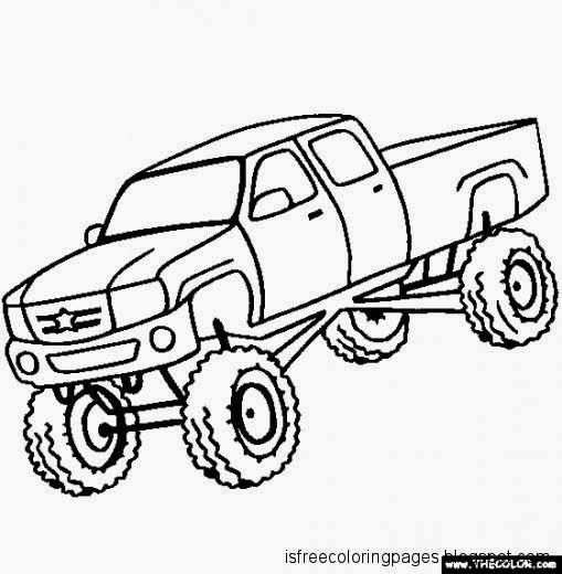 Coloring Sheets For Boys Monster Truck  Monster Truck Pages For Boys Coloring Pages